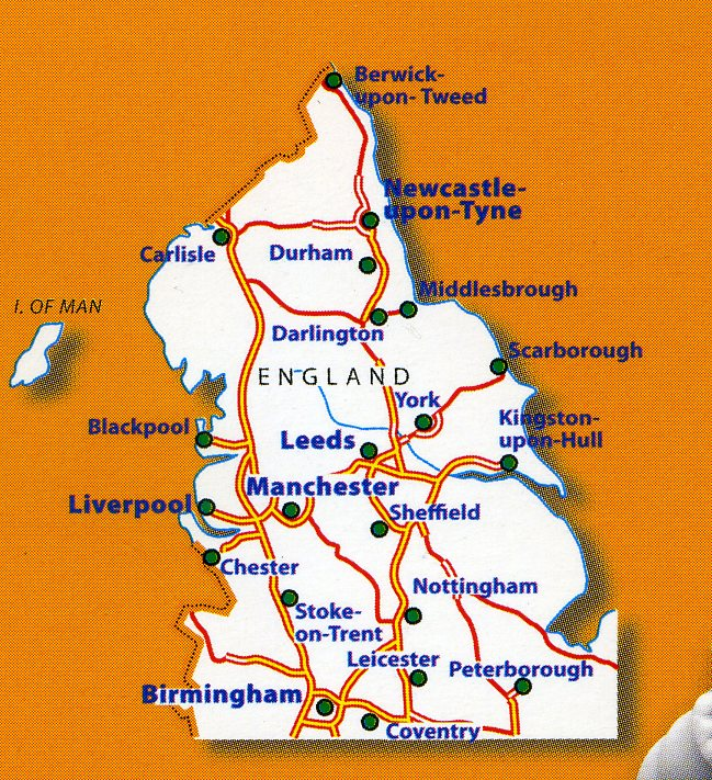 Map Of England Leicester.502 Michelin Map Northern England The Midlands